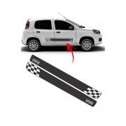 Faixa Lateral Fiat Uno Podium Preto/Branco
