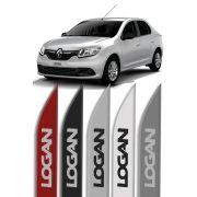 "Friso Lateral Personalizado ""Modelo Faca"" Renault Logan"