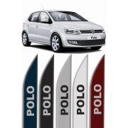 """Friso Lateral Personalizado """"Modelo Faca"""" Volkswagen Novo Polo"""