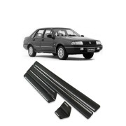 Friso Lateral Volkswagen Santana 1991 até 1994 4p (Preto e Cromado)
