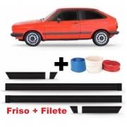 Kit de Friso Filete Lateral Gol Voyage Parati GL 84 85 86 87 + Filete
