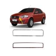 Moldura Cromada Grade Dianteira Superior Fiat Siena EL