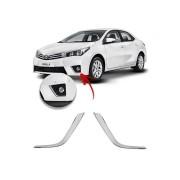 Aplique Cromado Farol de Milha Toyota Corolla 2015 até 2017