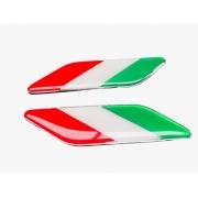 Par de Emblemas Badge Bandeira Italia Pequena