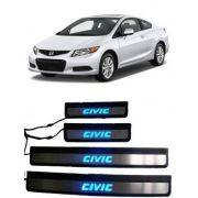 Soleira de Porta Led Honda Civic 2013 até 2015