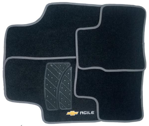 Tapete de Carpete Chevrolet Agile 2009 até 2011   - Só Frisos Ltda