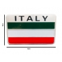 Emblema Badge Bandeira Italia