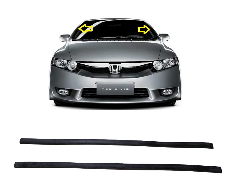 Acabamento Borracha Lateral Parabrisa Honda Civic 07/12  - Só Frisos Ltda
