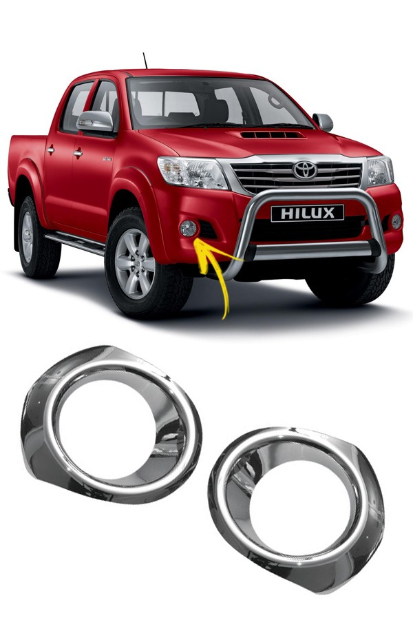 Aplique Cromado Farol de Milha Toyota Hilux 08/11  - Só Frisos Ltda
