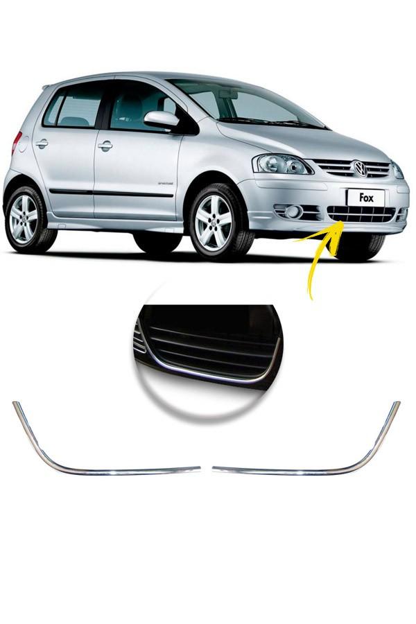Aplique Cromado Grade Inferior Volkswagen Fox 08/09  - Só Frisos Ltda