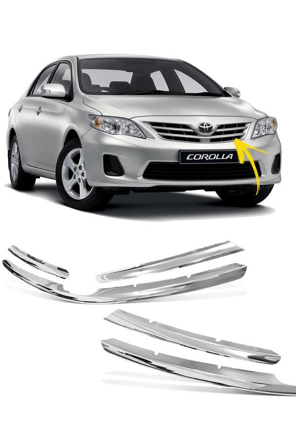 Aplique Cromado Grade Toyota Corolla 2012 a 2014  - Só Frisos Ltda