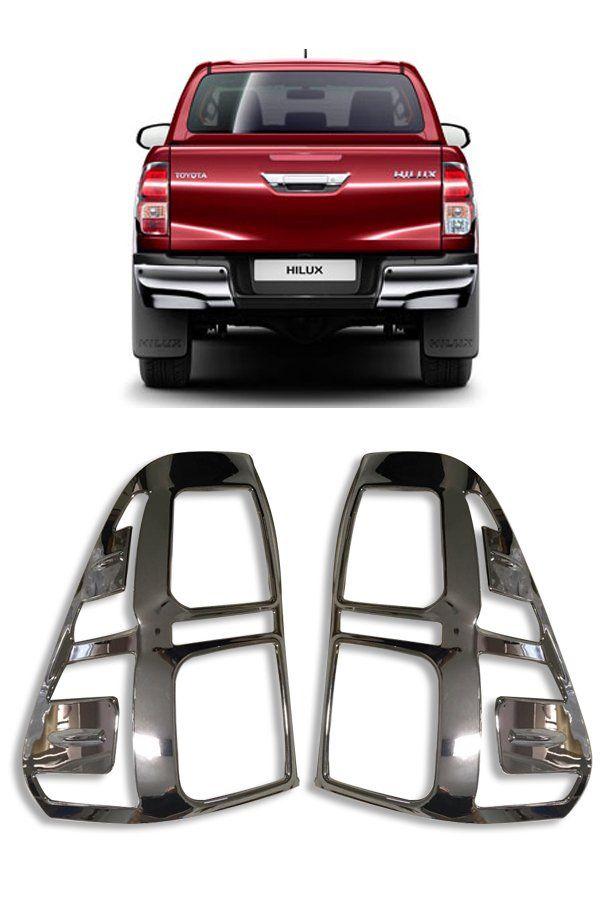 Aplique Cromado Lanterna Traseira Nova Toyota Hilux  - Só Frisos Ltda