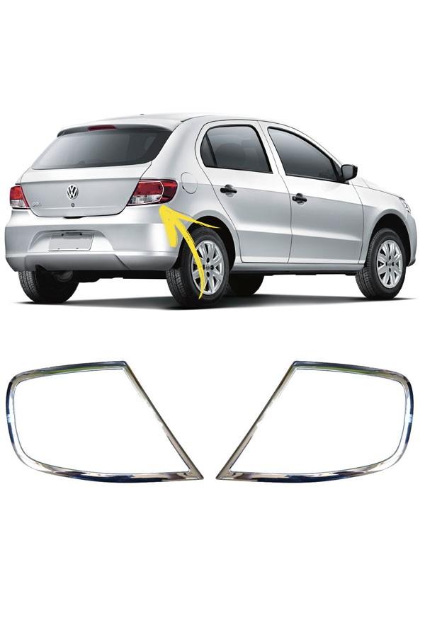 Aplique Cromado Lanterna Traseira Volkswagen Gol G5  - Só Frisos Ltda