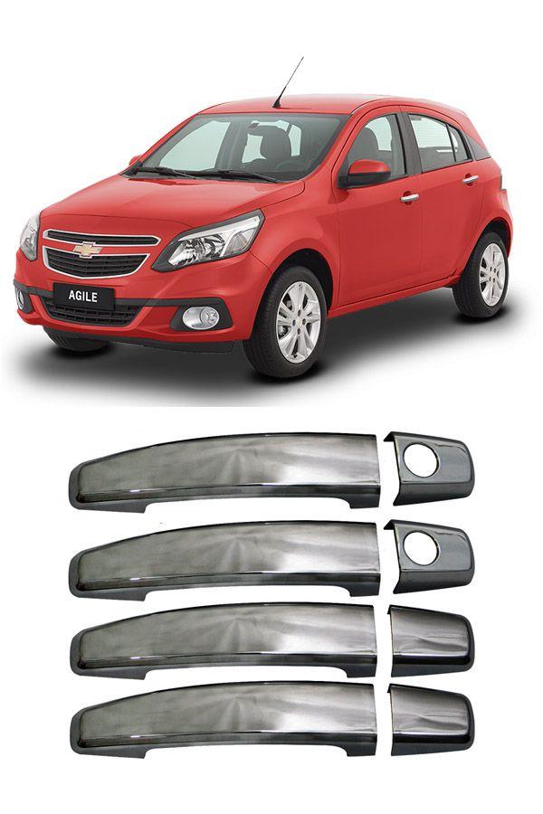 Aplique Cromado Maçaneta Chevrolet Agile  - Só Frisos Ltda