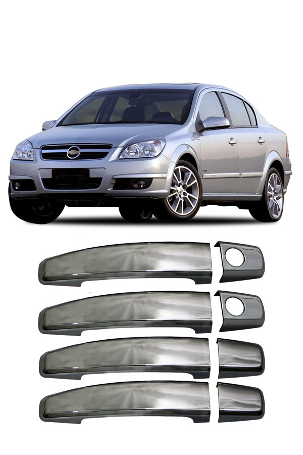 Aplique Cromado Maçaneta Chevrolet Vectra 2006  - Só Frisos Ltda