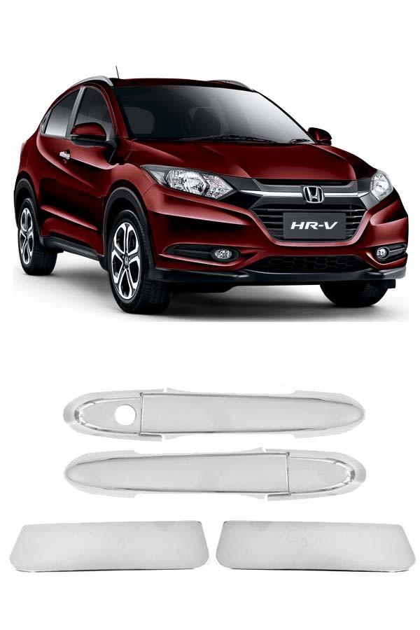 Aplique Cromado Maçaneta Honda HRV  - Só Frisos Ltda