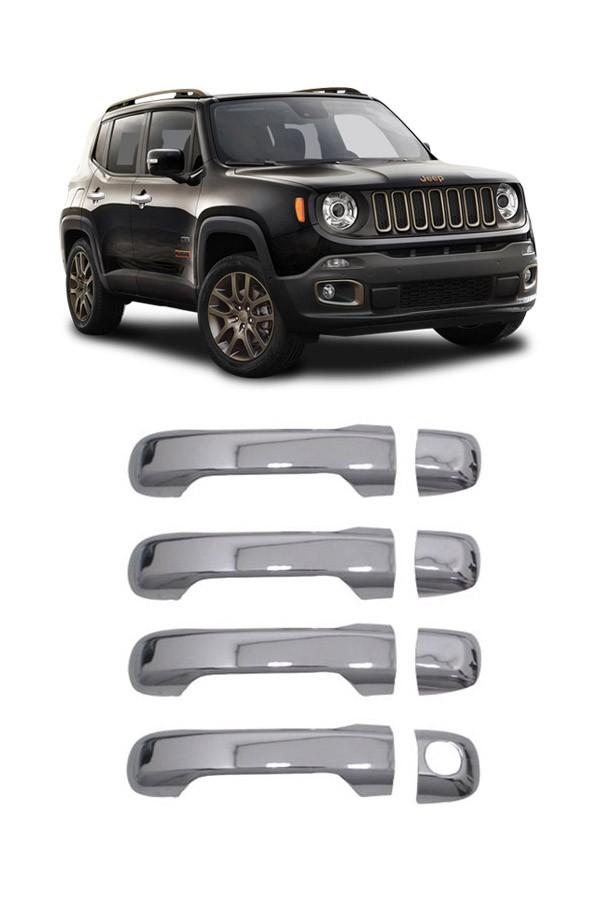 Aplique Cromado Maçaneta Jeep Renegade C/keyless e S/Keyless  - Só Frisos Ltda