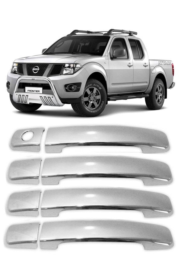 Aplique Cromado Maçaneta Nissan Frontier 2008  - Só Frisos Ltda