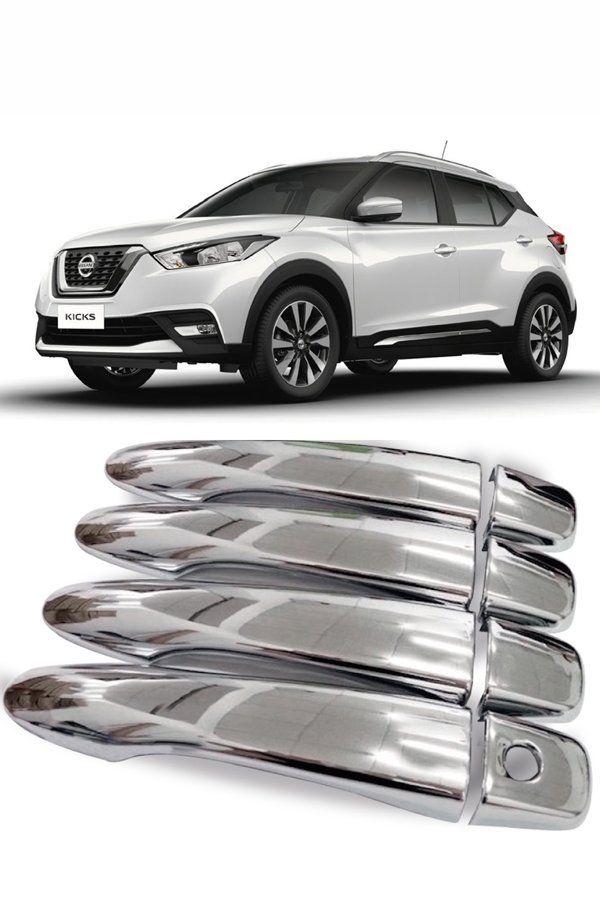 Aplique Cromado Maçaneta Nissan Kicks  - Só Frisos Ltda