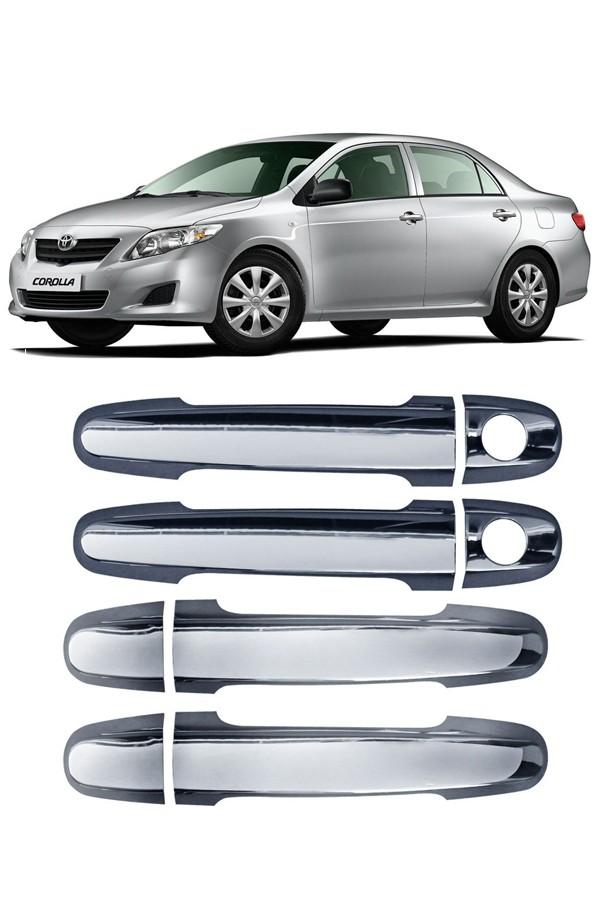 Aplique Cromado Maçaneta Toyota Corolla  - Só Frisos Ltda