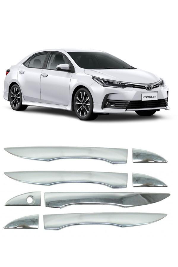 Aplique Cromado Maçaneta Toyota Corolla 2015/...  - Só Frisos Ltda