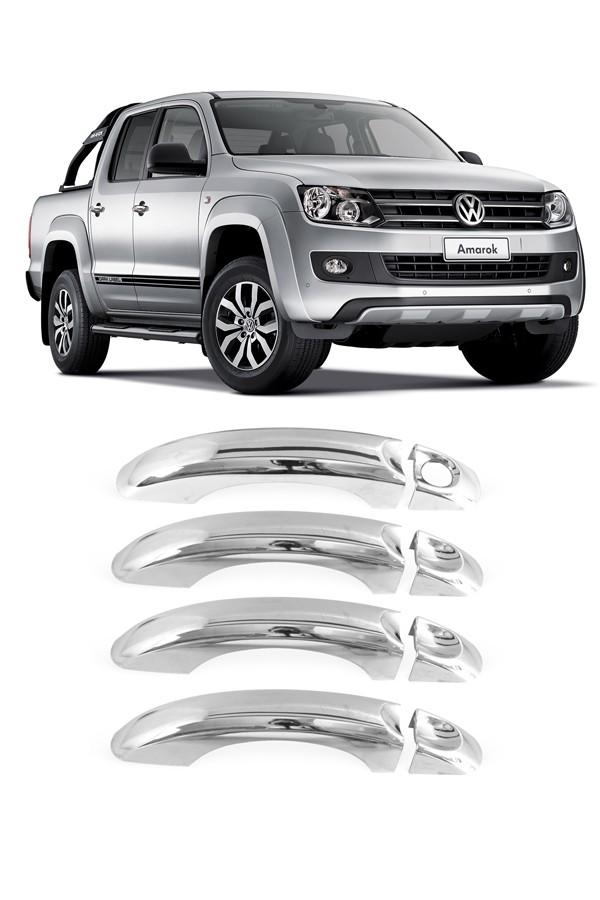 Aplique Cromado Maçaneta Volkswagen Amarok  - Só Frisos Ltda
