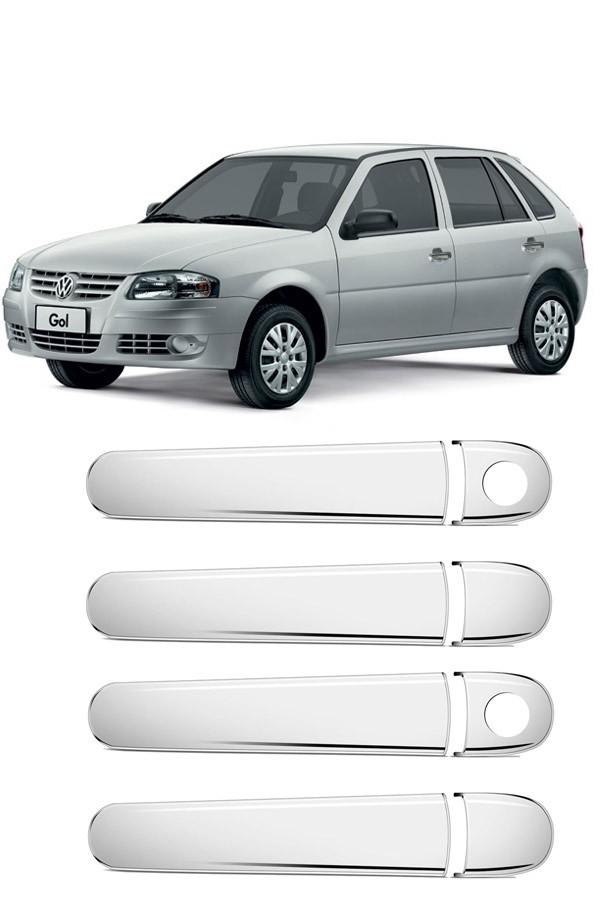 Aplique Cromado Maçaneta Volkswagen Gol G3/G4 4p  - Só Frisos Ltda