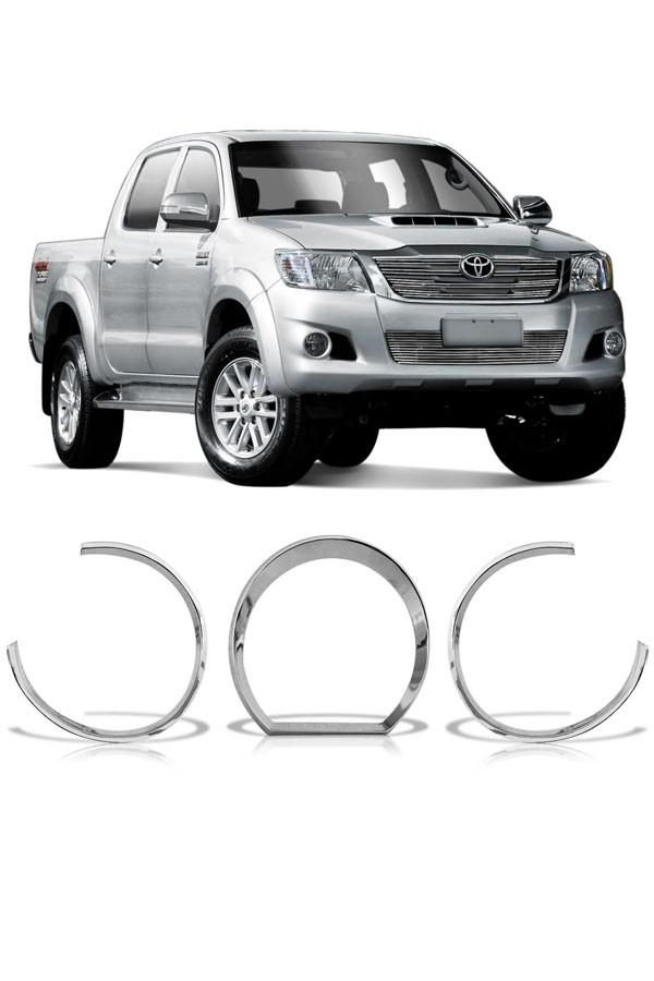 Aplique Cromado Painel Toyota Hilux 2005 até 2012  - Só Frisos Ltda