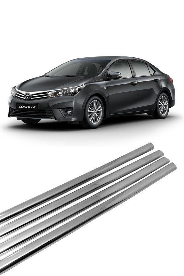 Aplique Cromado Pestana Toyota Corolla  - Só Frisos Ltda