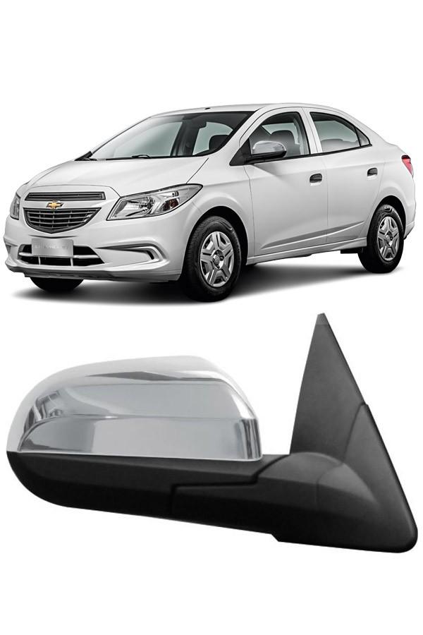 Aplique Cromado Retrovisor Chevrolet Onix/Prisma 2013/...  - Só Frisos Ltda