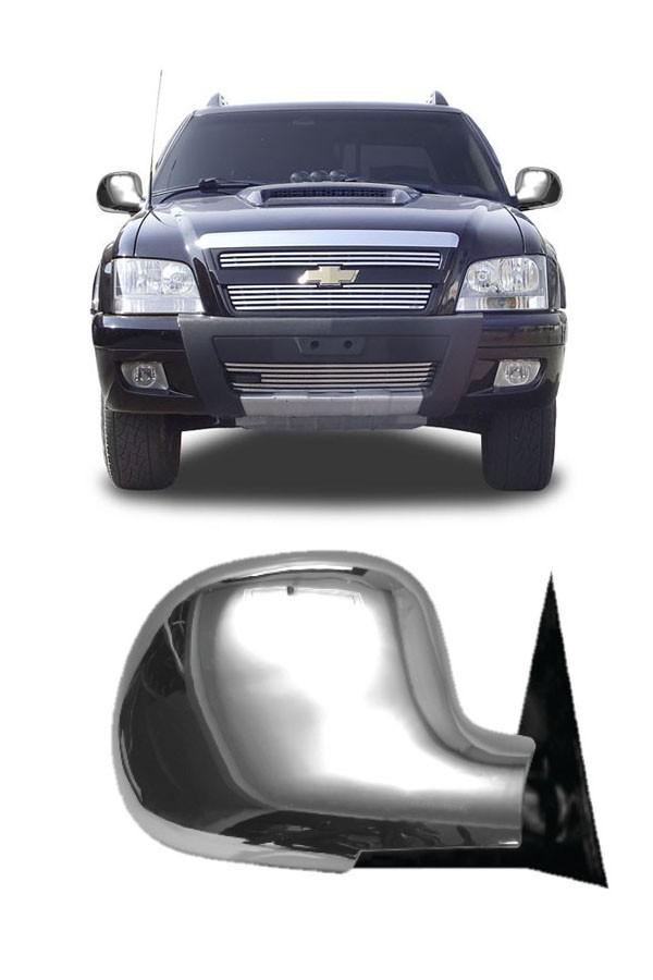Aplique Cromado Retrovisor Chevrolet S10  - Só Frisos Ltda