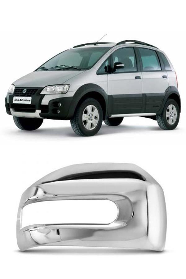 Aplique Cromado Retrovisor Fiat Linha Adventure - Strada/Idea/Weekend  - Só Frisos Ltda