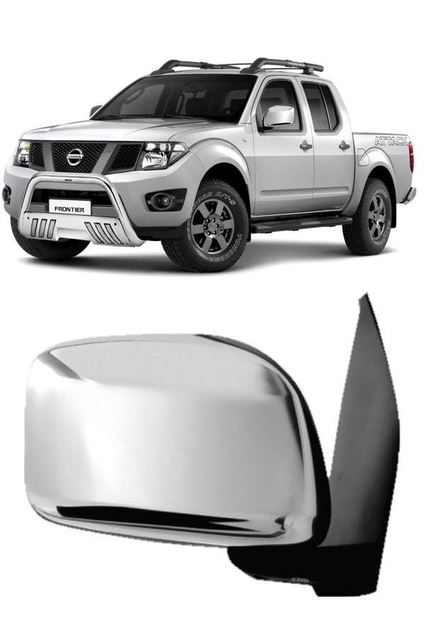 Aplique Cromado Retrovisor Nissan Frontier  - Só Frisos Ltda