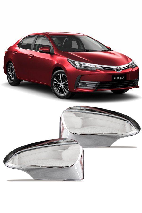 Aplique Cromado Retrovisor Toyota Corolla 2015 até 2018  - Só Frisos Ltda