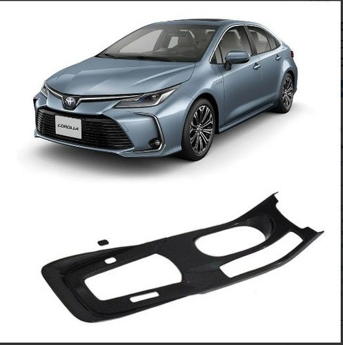 Aplique Moldura Câmbio Corolla 2020 Fibra De Carbono  - Só Frisos Ltda