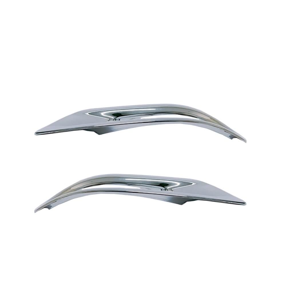 Aplique Moldura Cromado Refletor Traseiro Corolla 2015 16 17 18 19  - Só Frisos Ltda