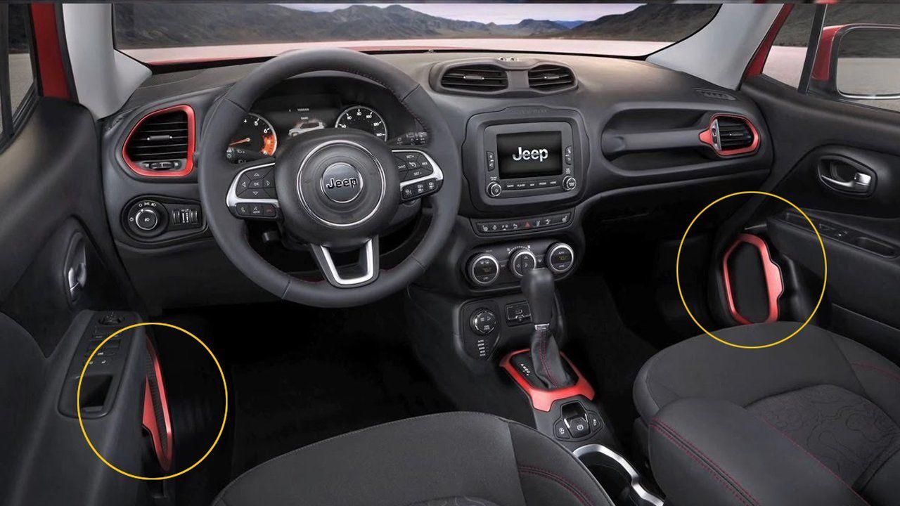Aplique Vermelho Alto Falante Jeep Renegade 4pçs  - Só Frisos Ltda