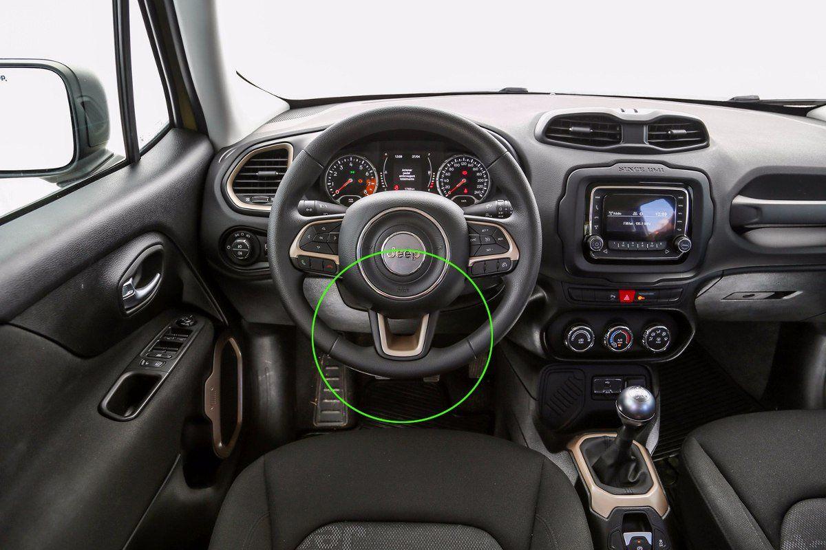Aplique Vermelho Volante Jeep Renegade  - Só Frisos Ltda