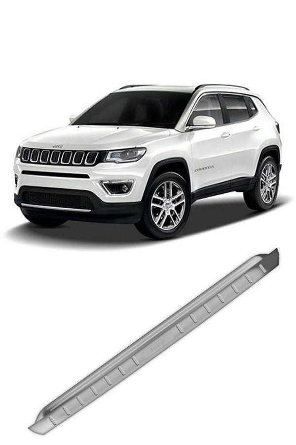 Apoio Protetor Traseiro Externo em Inox Jeep Compass  - Só Frisos Ltda