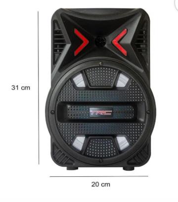 Caixa de Som Amplificada Portatil Bluetooth 110W RMS  - Só Frisos Ltda