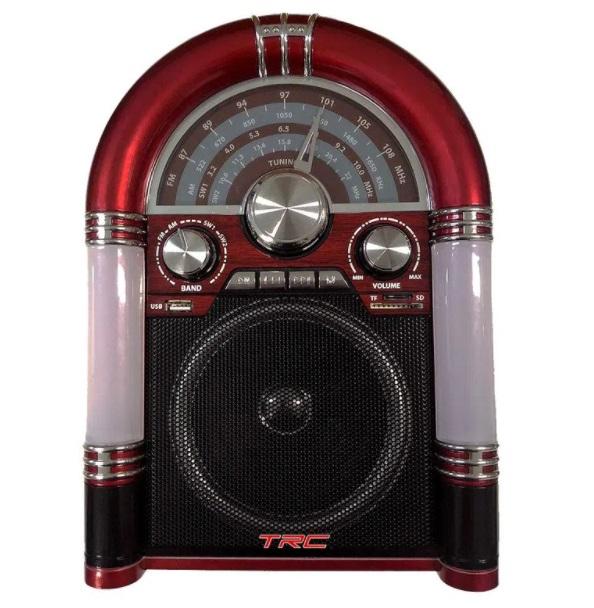 Caixa de Som Retro Jukebox Bluetooth 25w rms