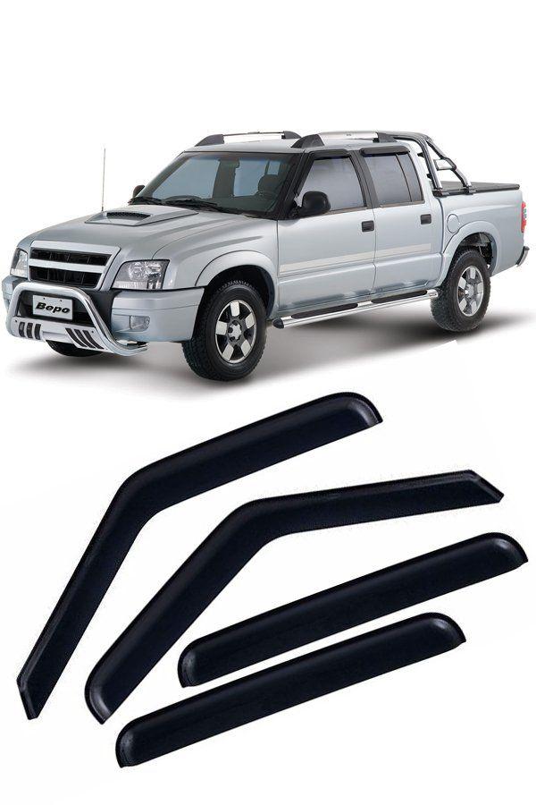 Calha de Chuva Chevrolet S10 Cabine Dupla CD 4p 1996 até 2011  - Só Frisos Ltda