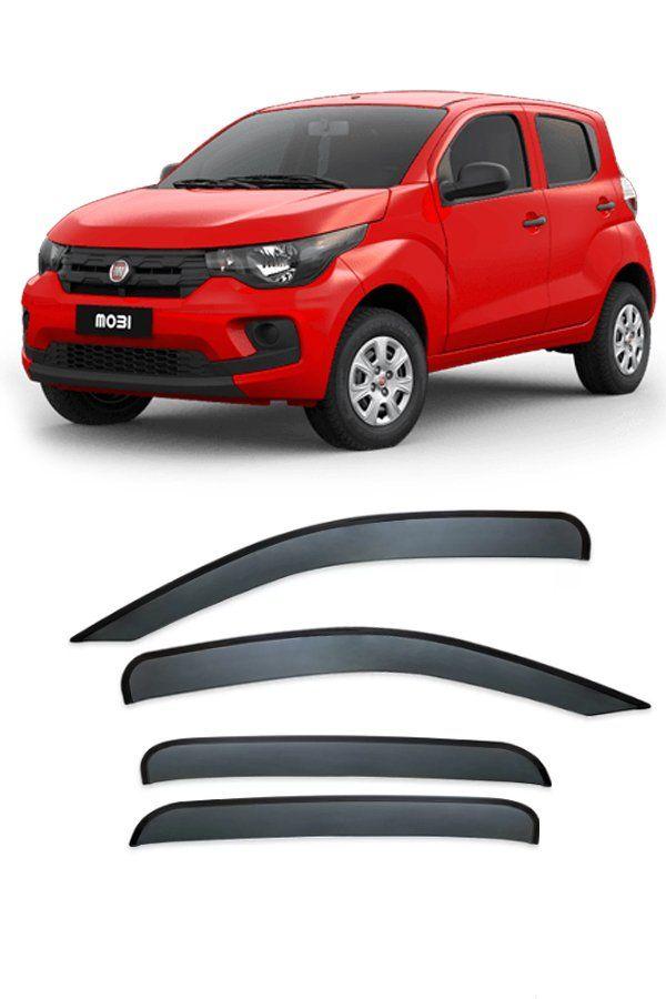 Calha de Chuva Fiat Mobi 4p 2016 até 2018  - Só Frisos Ltda