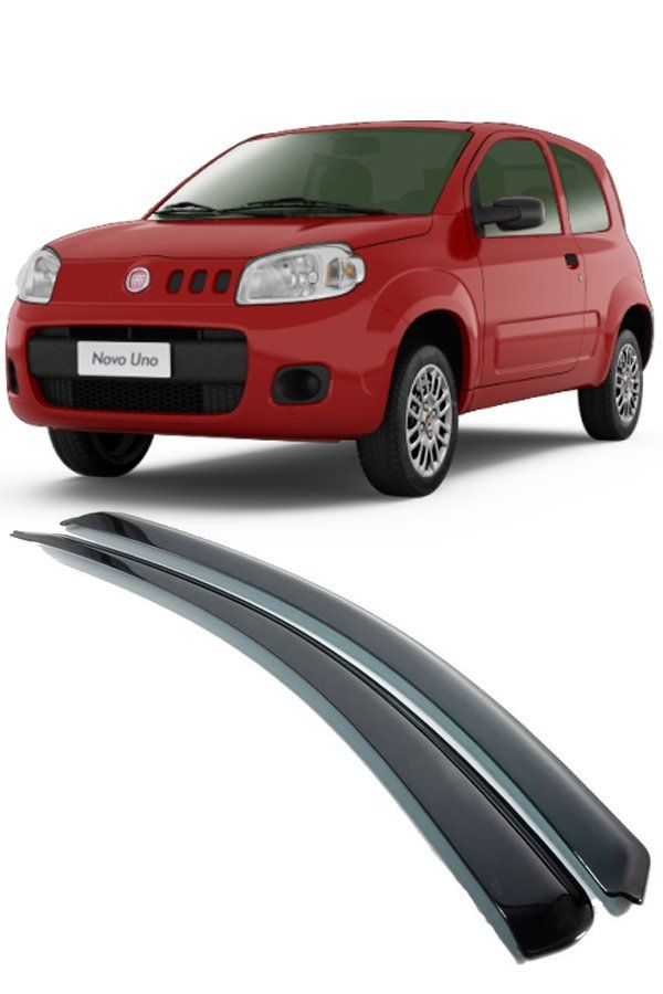 Calha de Chuva Fiat Uno Vivace 2p 2010 até 2017  - Só Frisos Ltda