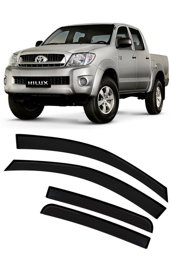 Calha de Chuva Toyota Hilux Cabine Dupla CD 4p 2005 até 2015  - Só Frisos Ltda