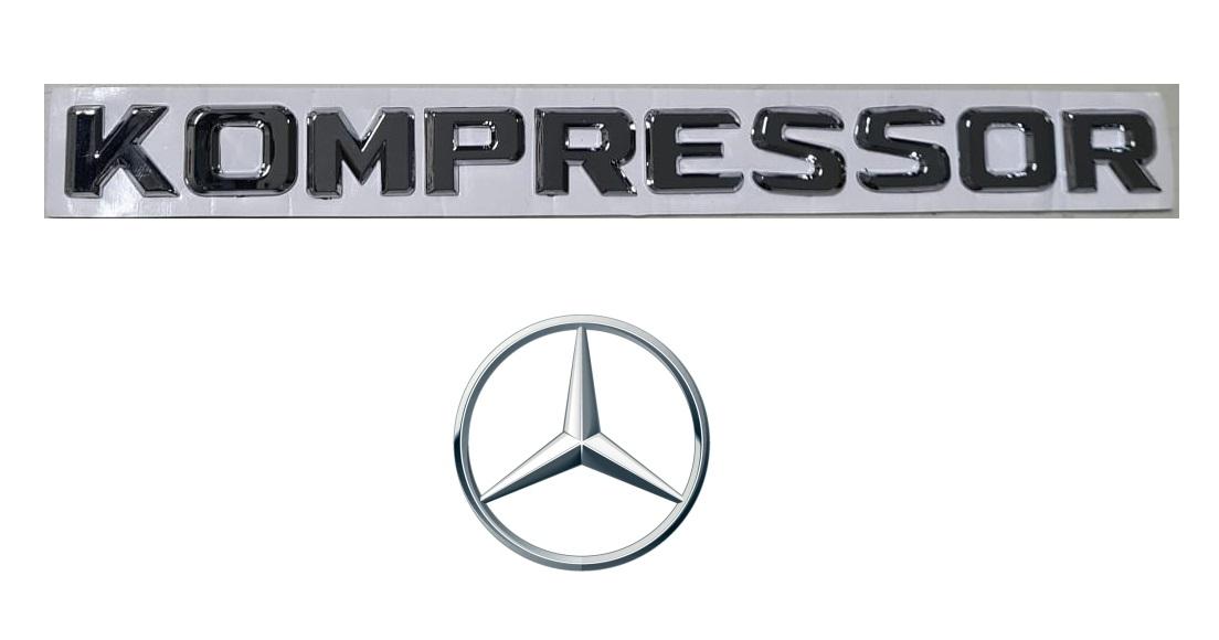 Emblema Kompressor Mercedes Benz C200 C180 SLK200 CLC200  - Só Frisos Ltda