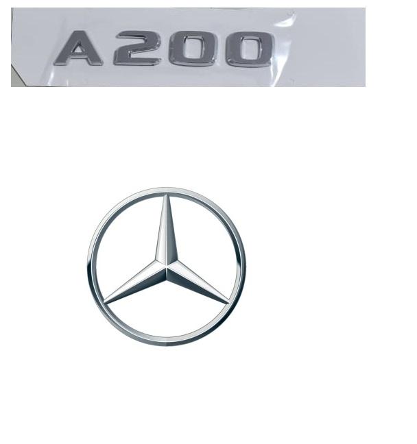 Emblema Tampa Traseira A200 A 200 Mercedes benz  - Só Frisos Ltda