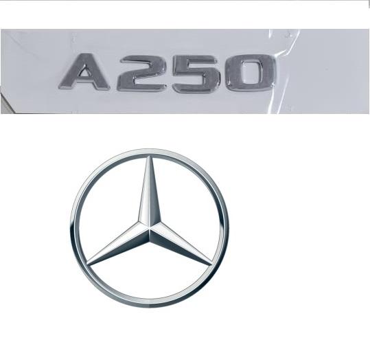 Emblema Tampa Traseira A250 A 250 Mercedes benz  - Só Frisos Ltda