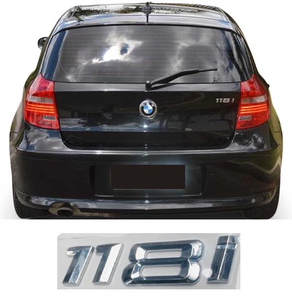 Emblema Tampa Traseira BMW 118i  - Só Frisos Ltda