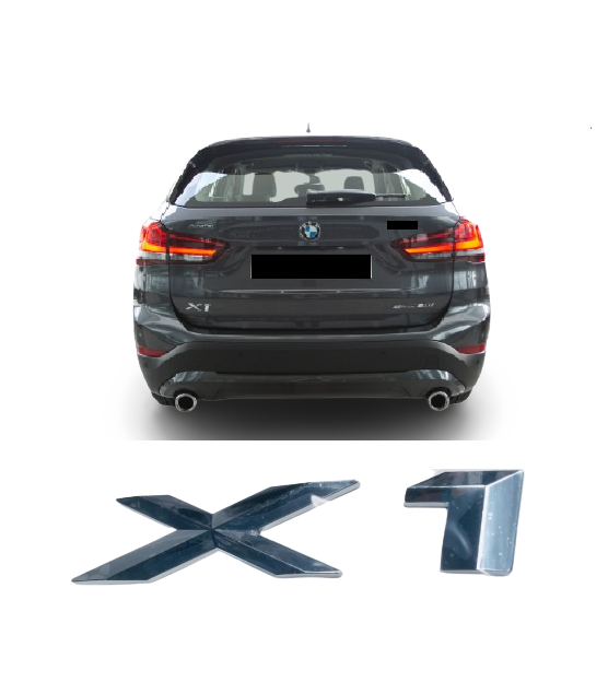 Emblema Tampa Traseira BMW X1  - Só Frisos Ltda